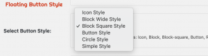 List of all Floating Button Options
