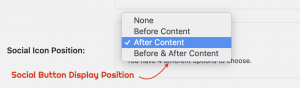 Show Sharing Button Before or After or at Both location