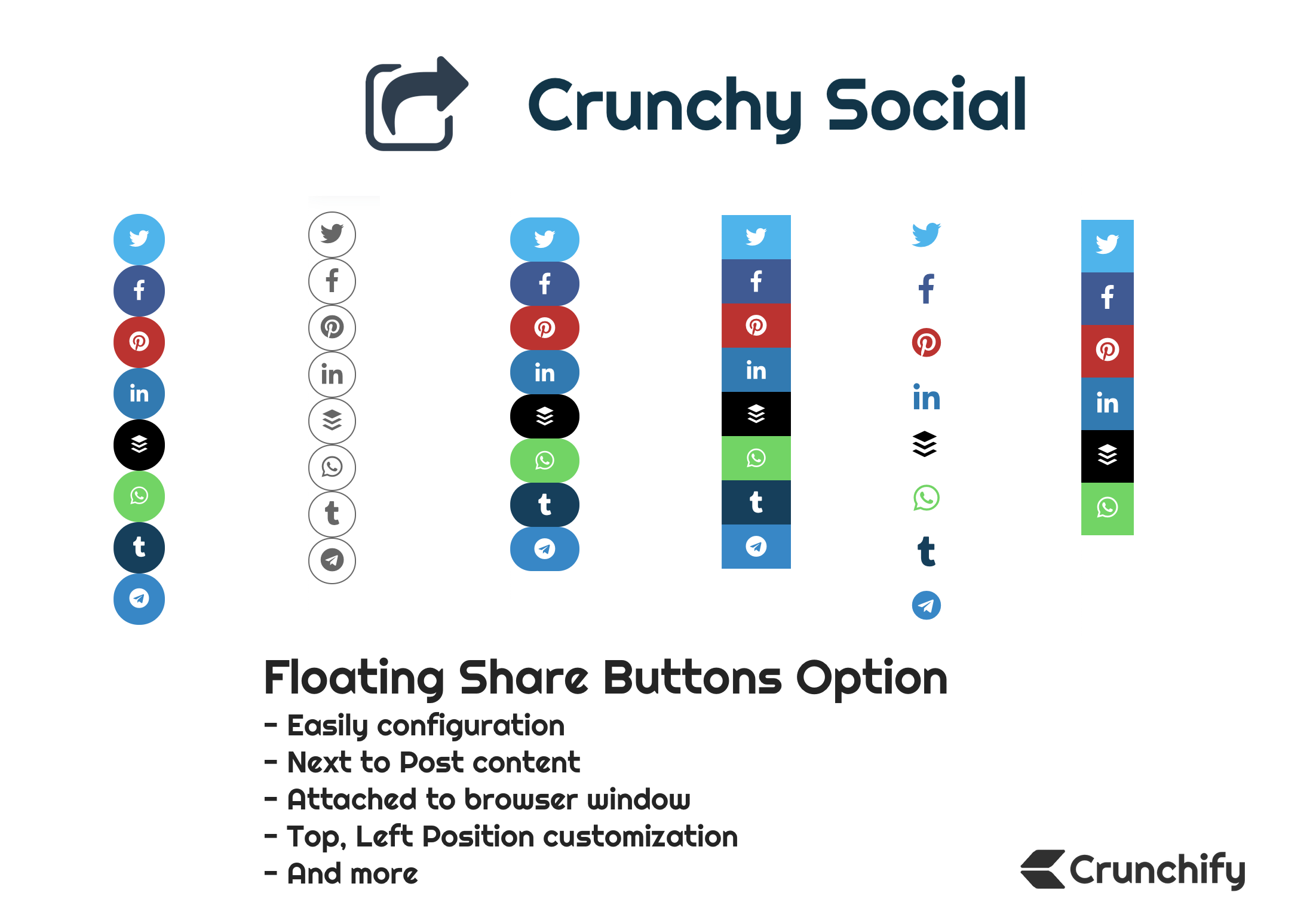 Crunchy Social Floating Options