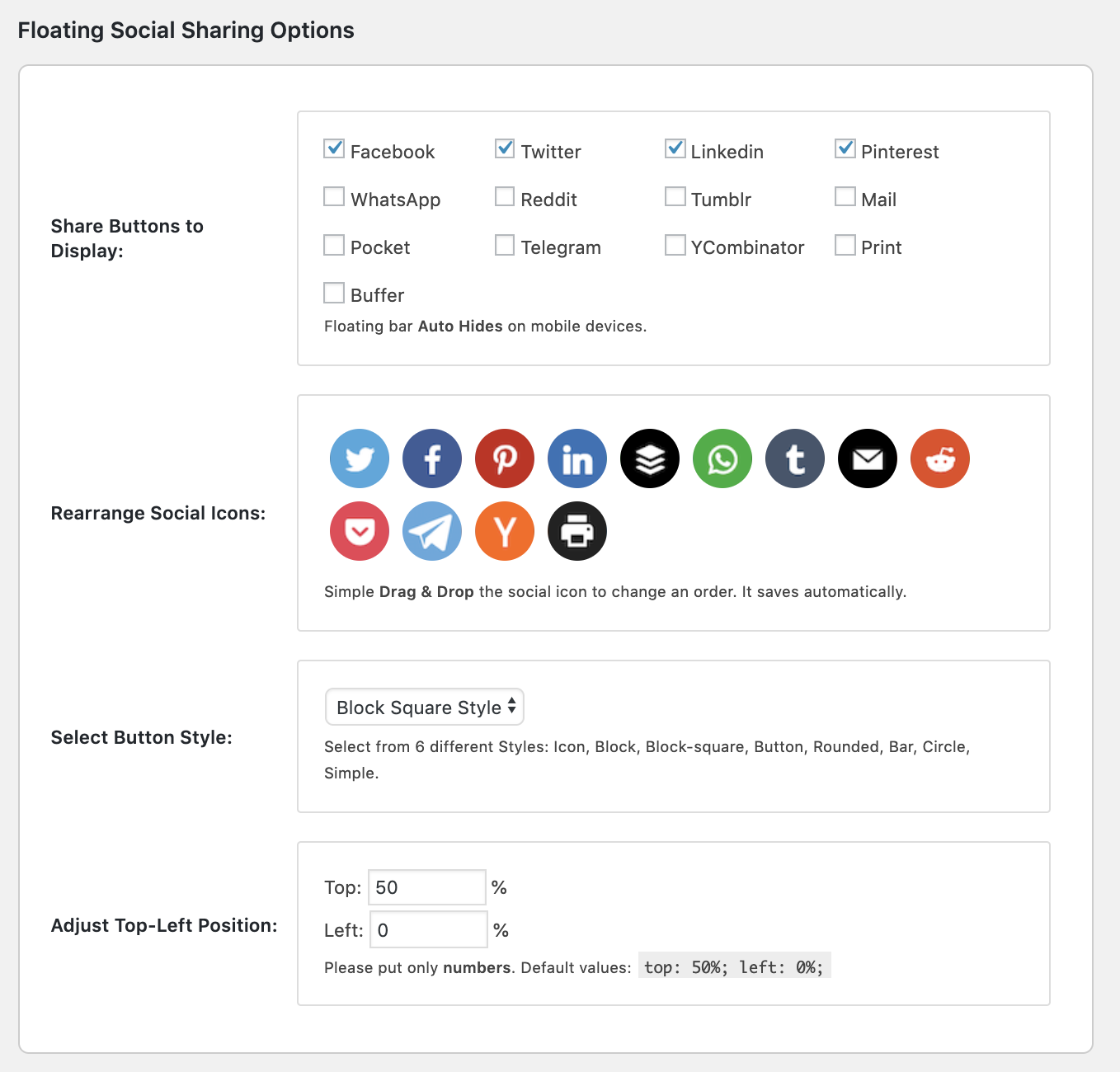 Crunchy Social - Floating Social Sharing Options