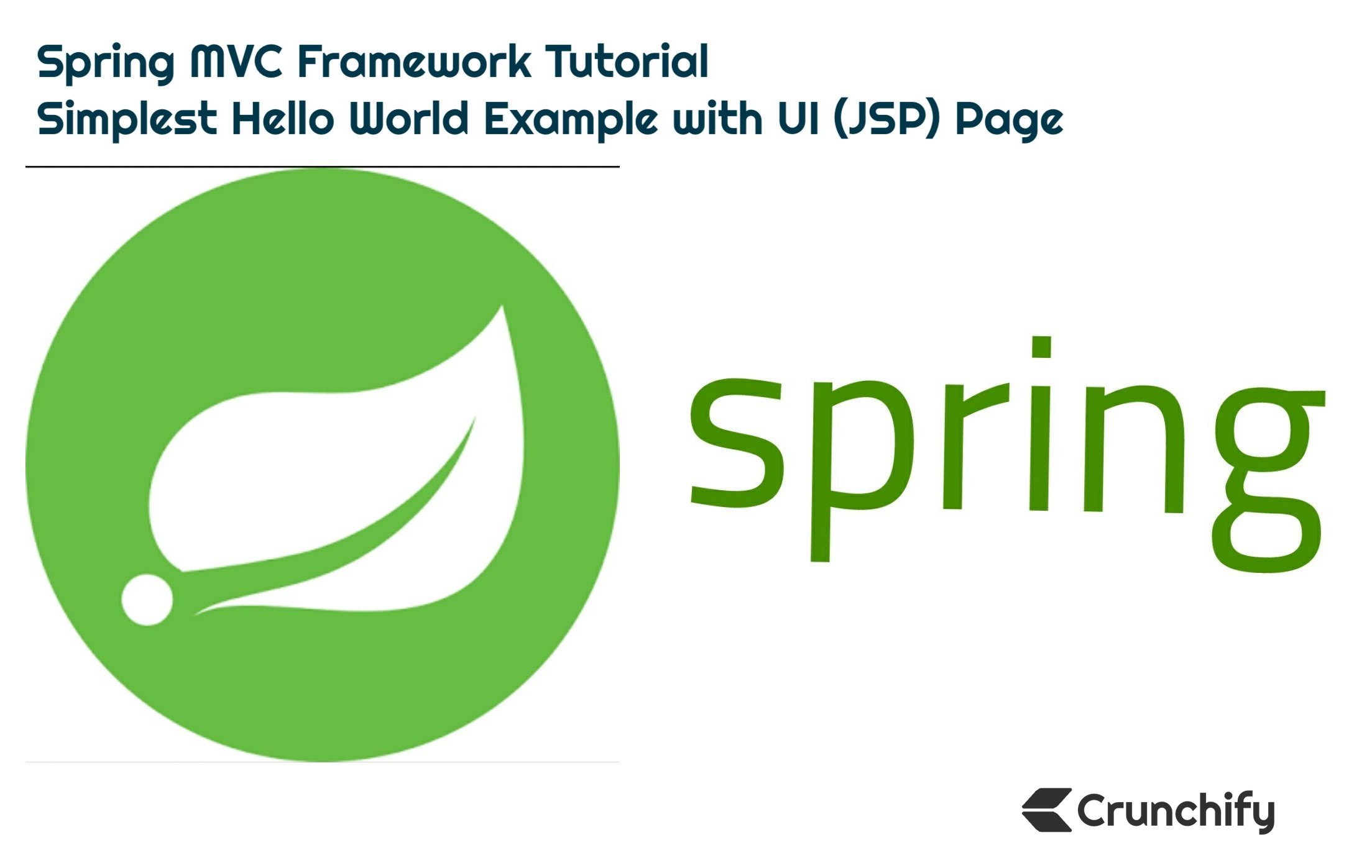 Spring MVC tutorial - Crunchify Tutorial